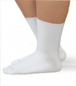 Adult Seamless Sensitivity Socks - Extra Wide Crew - WHITE - (Smartknit)